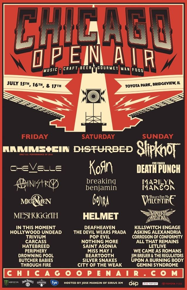 The Chicago Open Air Festival Includes All The Big Names In Rock