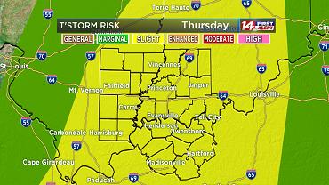 Slight Risk For Severe Weather Thursday!