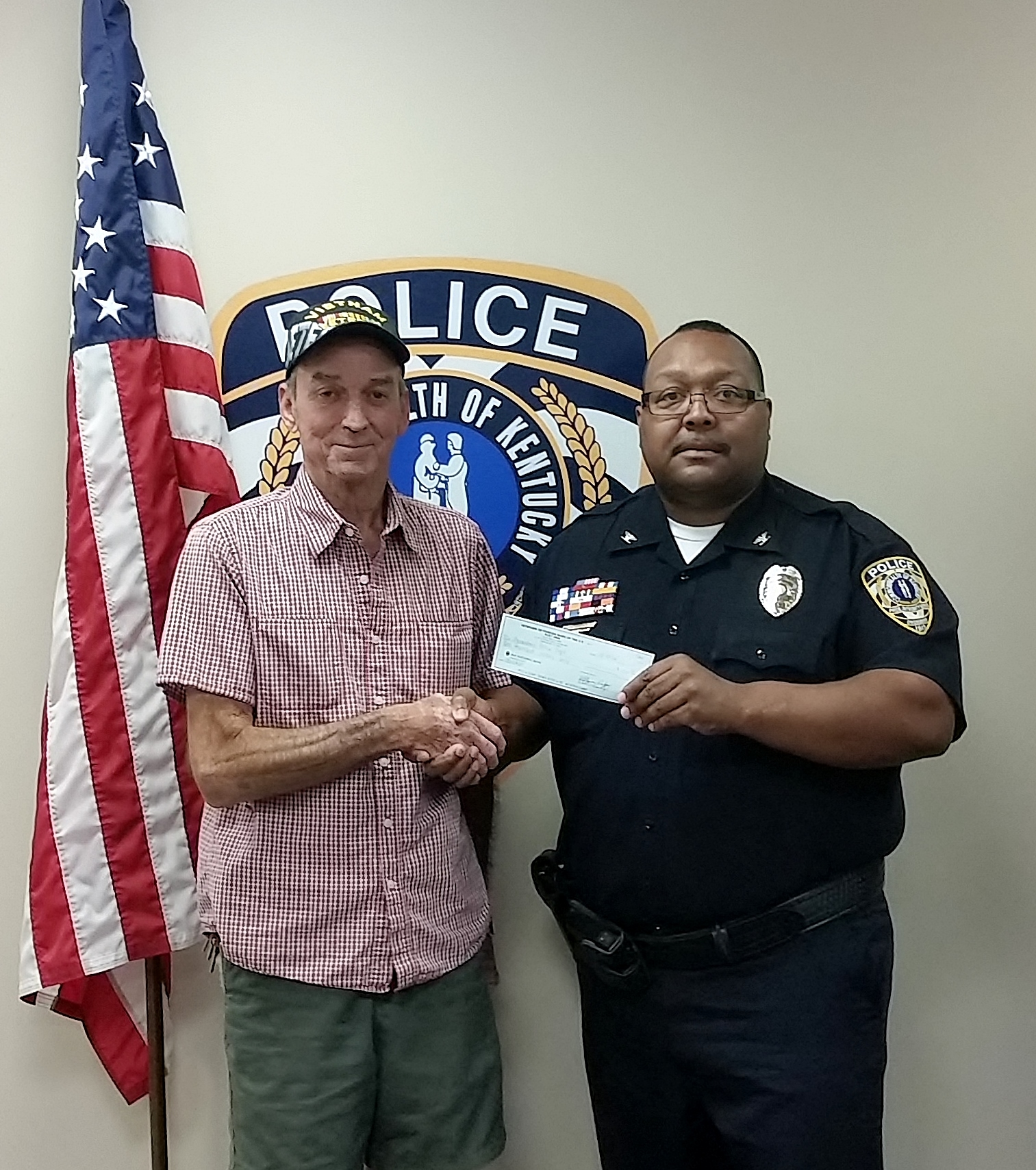 VFW Post Donates to OPD For Overdose Antedote