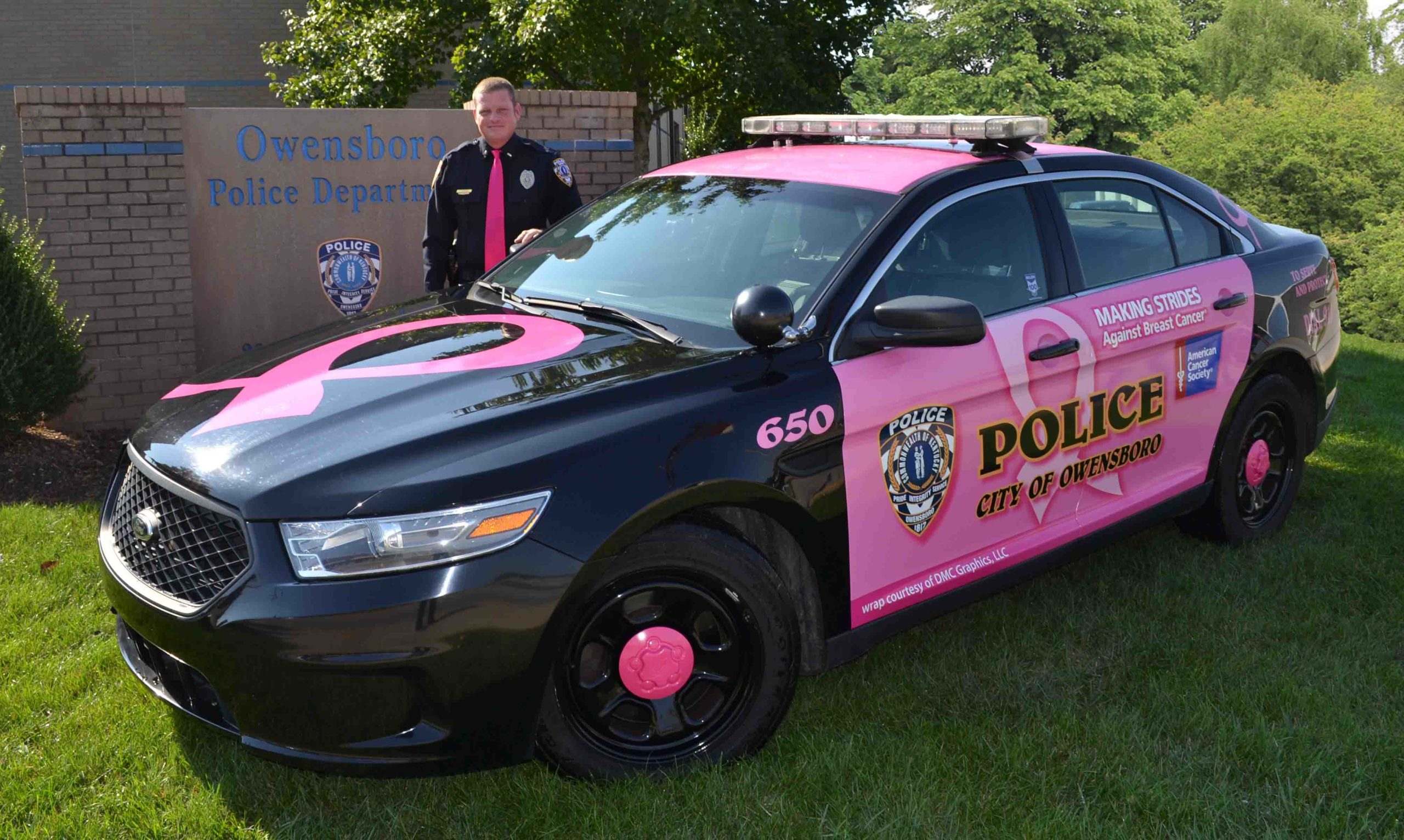 OPD Unveiling American Cancer Society Police Cruiser