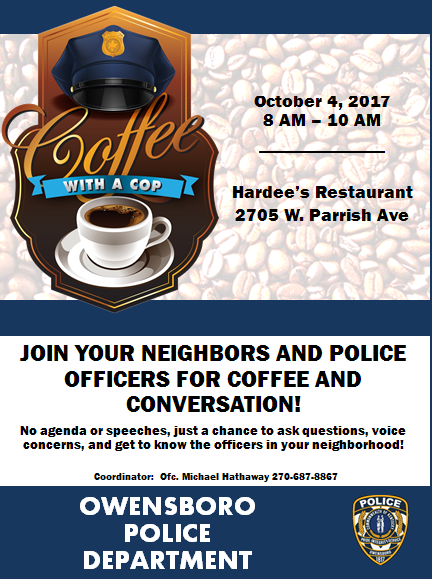 """OPD Participates with """"Coffee with a Cop"""""""