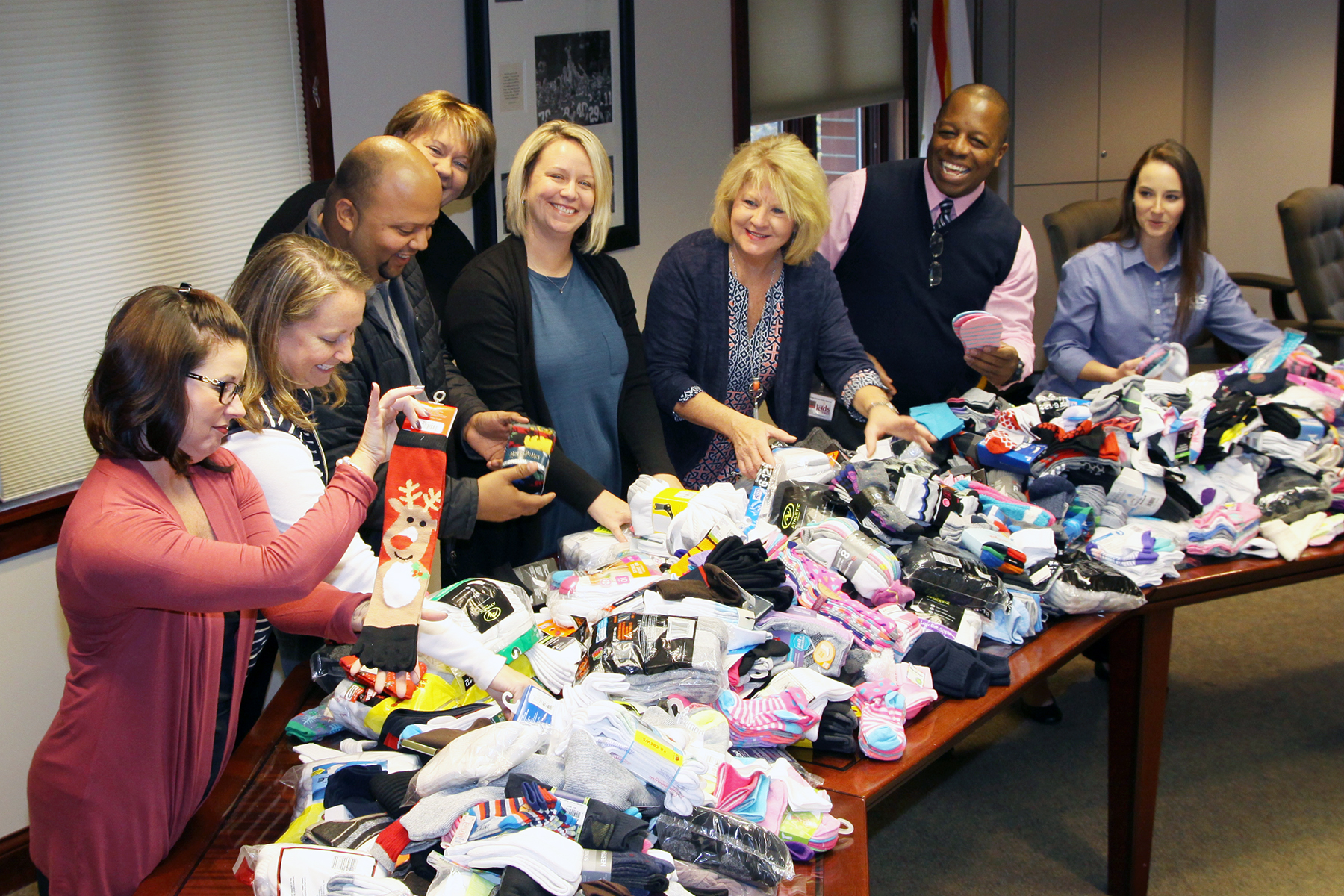 """DCPS/Kenergy """"Sock-tober"""" Campaign Warms Feet & Hearts"""