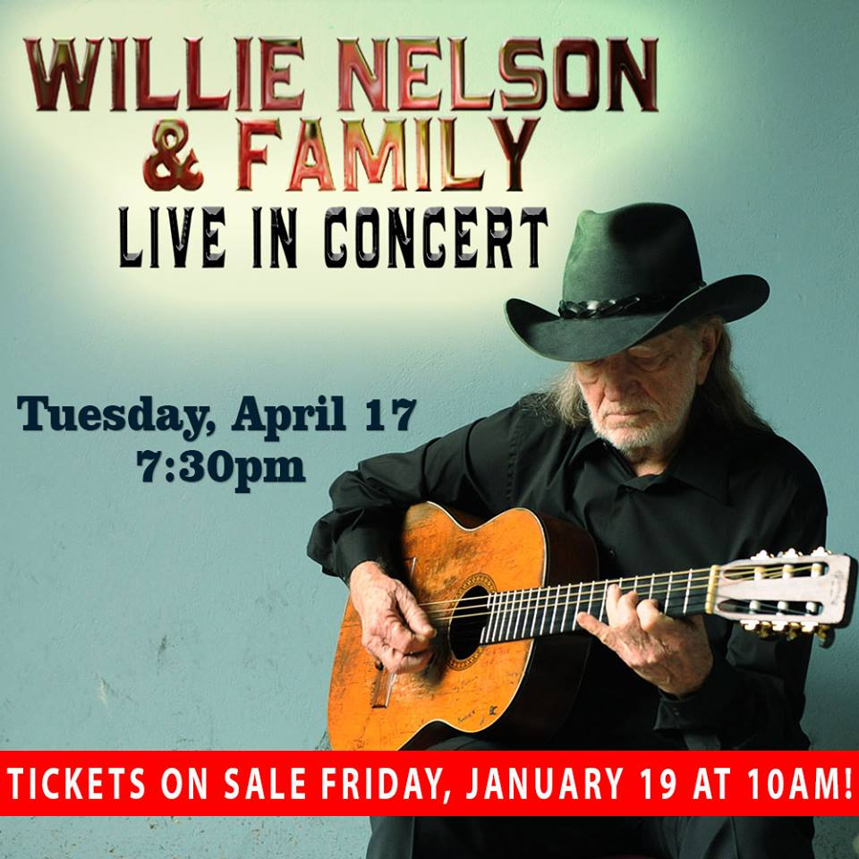 Willie Nelson Is Performing In Owensboro!