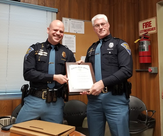 Trooper Who Patrols Spencer Co. Honored By ISP