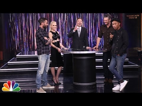 "'The Voice' judges play ""Spin the Microphone"" with Jimmy Fallon"