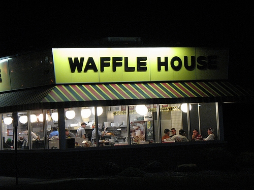 A Guy Lost Fantasy Football and Had to Spend 24 Hours at a Waffle House . . . Minus 20 Minutes for Every Waffle He Ate