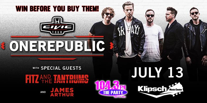 OneRepublic Ticket Giveaway