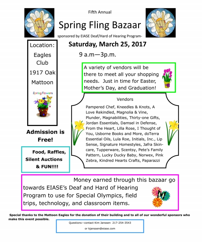 Spring Fling Bazaar Tomorrow!