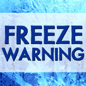 National Weather Service Issues Freeze Warning