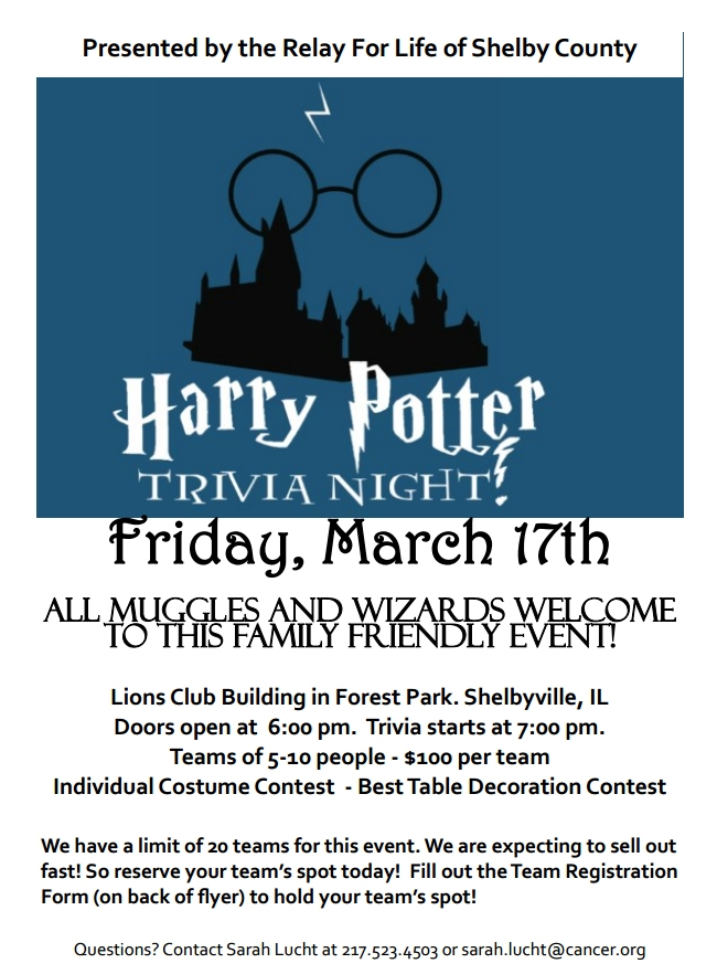 Shelbyville Harry Potter Trivia Night