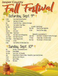 jasper-county-fall-festival-2017-schedule-of-events