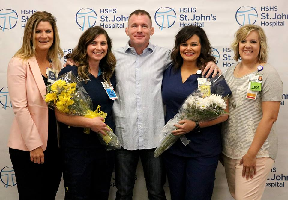 HSHS St. John's Hospital Honors Two Nurses for Care They Provided to Retired UFC Fighter Matt Hughes