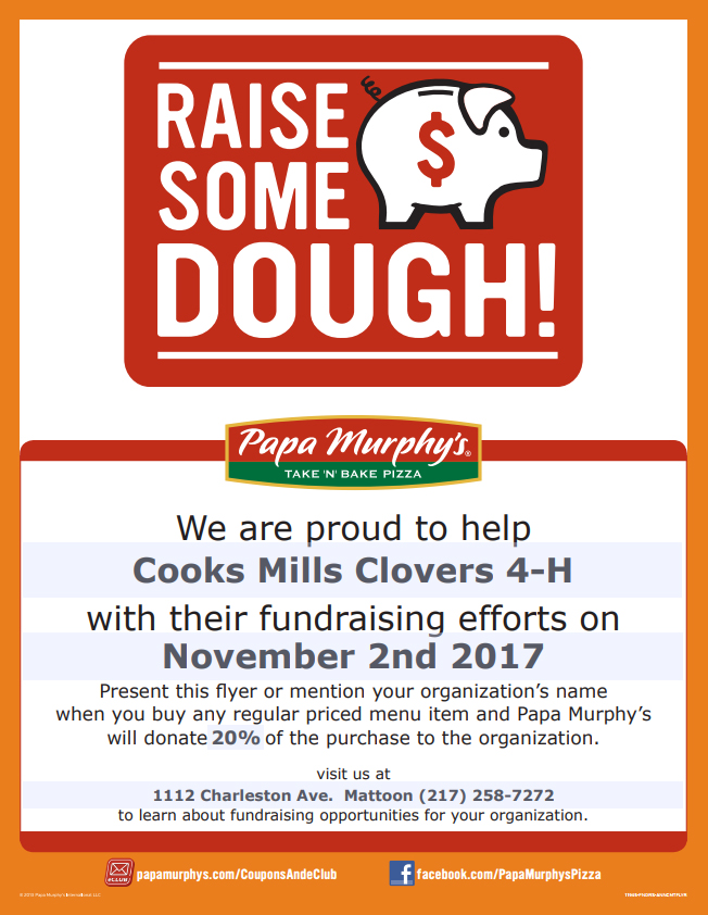 Papa Murphy's 4-H Fundraiser this Weekend