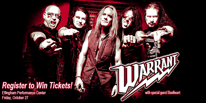 Warrant - Ticket Giveaway