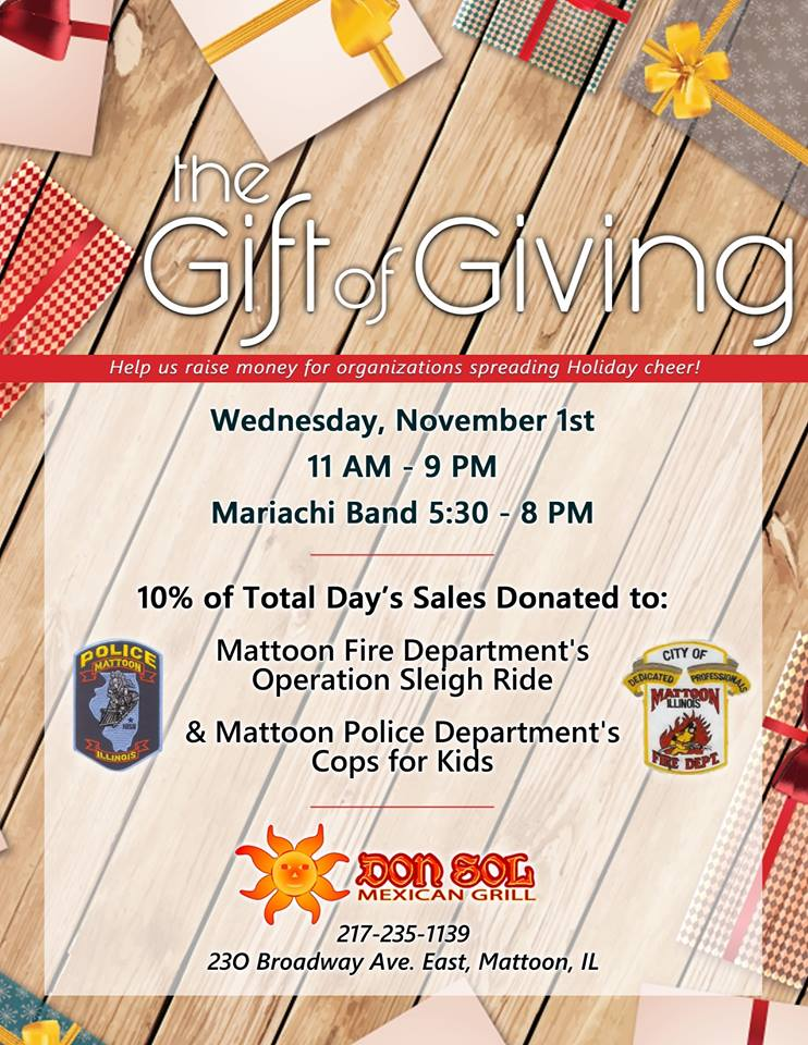Don Sol Mexican Grill Gift of Giving