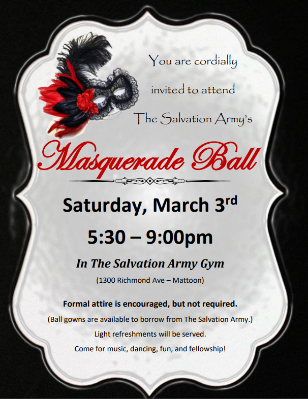 Salvation Army's Annual Masquerade Ball