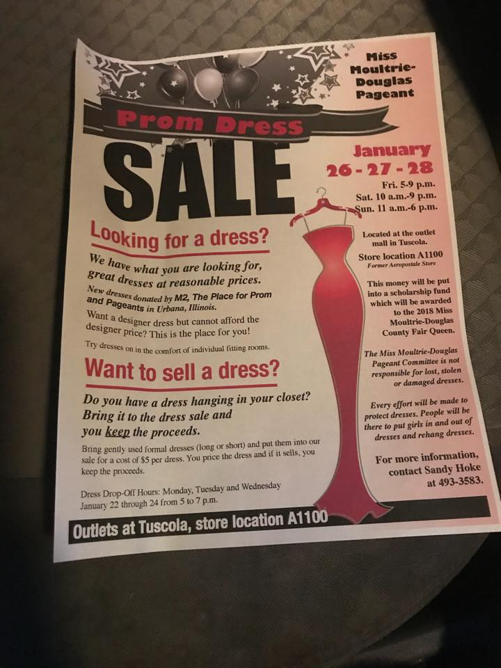 Miss Moultrie Douglas Annual Prom Dress Sale