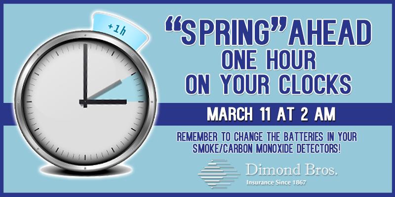 Daylight Saving Time Reminder - Spring Ahead