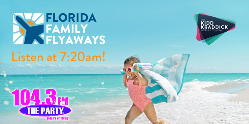 Feature: http://www.1043theparty.com/2018/05/01/kidd-kraddick-florida-family-flyaways/