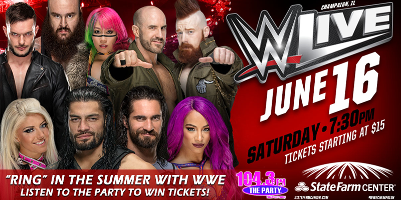 Feature: http://www.1043theparty.com/2018/05/18/ring-in-the-summer-with-wwe-listen-to-win-tickets/