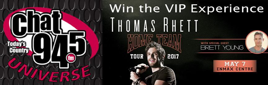 CHAT Universe Contest – Thomas Rhett VIP Experience