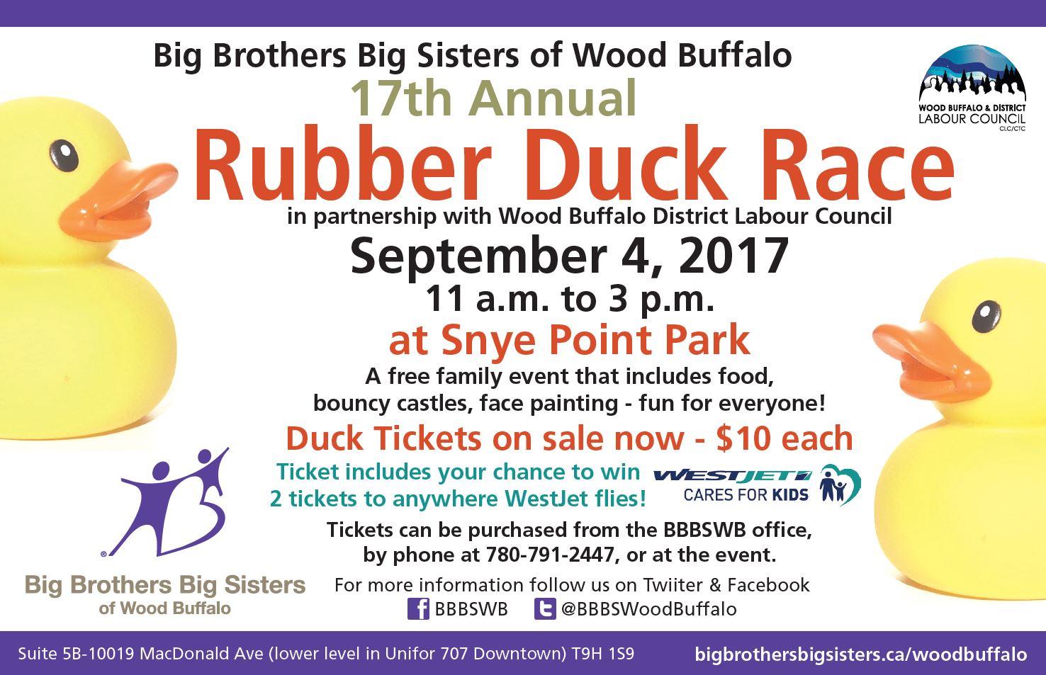 big brothers big sisters 17th annual duck race | 100.5 cruz fm