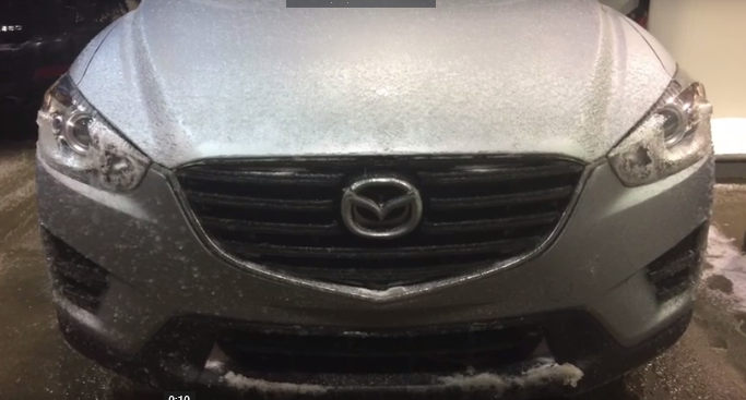 Bad Winter Roads in the Mazda CX-5