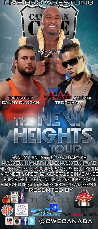 Canadian Wrestling Elite- The New Heights Tour