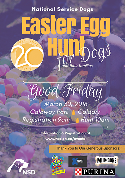 Easter Egg Hunt for Dogs- March 30