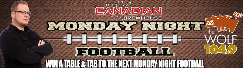 Monday Night Football @ the Canadian Brewhouse