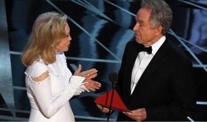 """You got the right envelope, right?  Of course I do... Why wouldn't I have the correct envelope?  This is the Oscars!  They wouldn't screw up 'Best Picture', would they?"""