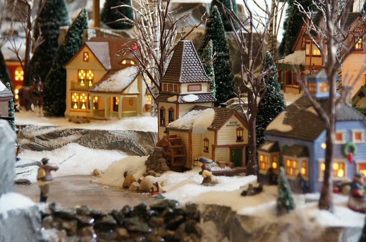 idea of decorating my place for the holidayseven get on one of those tiny little christmas villages complete with dinosaur toys ravaging the townsfolk - Miniature Christmas Town Decorations