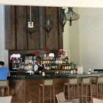 the bar in the lobby
