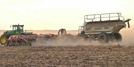 Seeding has started across a wide area of Southern Saskatchewan