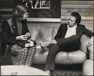 Ron Mullen interviews Merle Haggard for CKRM's Birthday Celebration