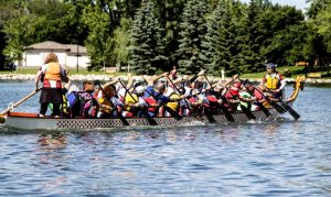 Prairie Dragons Paddling Club at the 2014 Lethbridge Dragon Boat Festival. (Prairie Dragons Paddling Club Facebook)