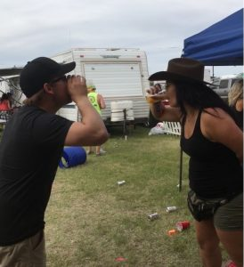 """When you're from Canada you get challenged to a """"chug off""""... A beer and a raw egg!"""