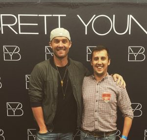 Hanging out with Brett Young