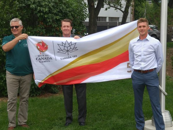 Canada Games Flag flies at Regina City Hall