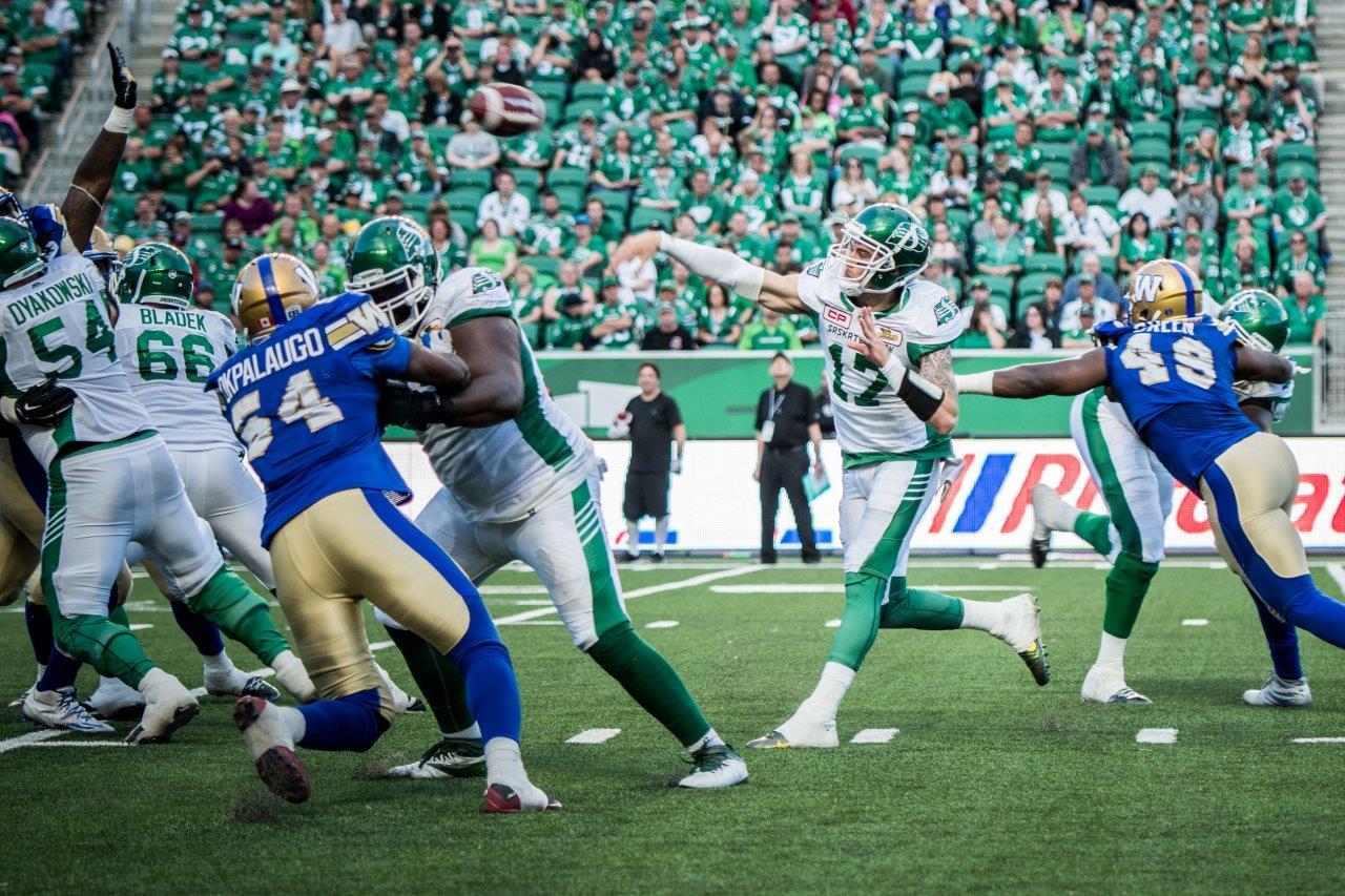 Riders christen Mosaic Stadium with 25-25 tie versus Winnipeg
