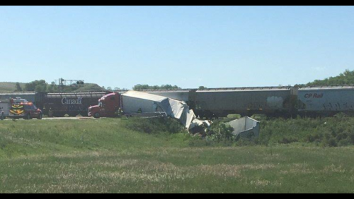 Charges issued after semi hits train Tuesday morning near Estevan