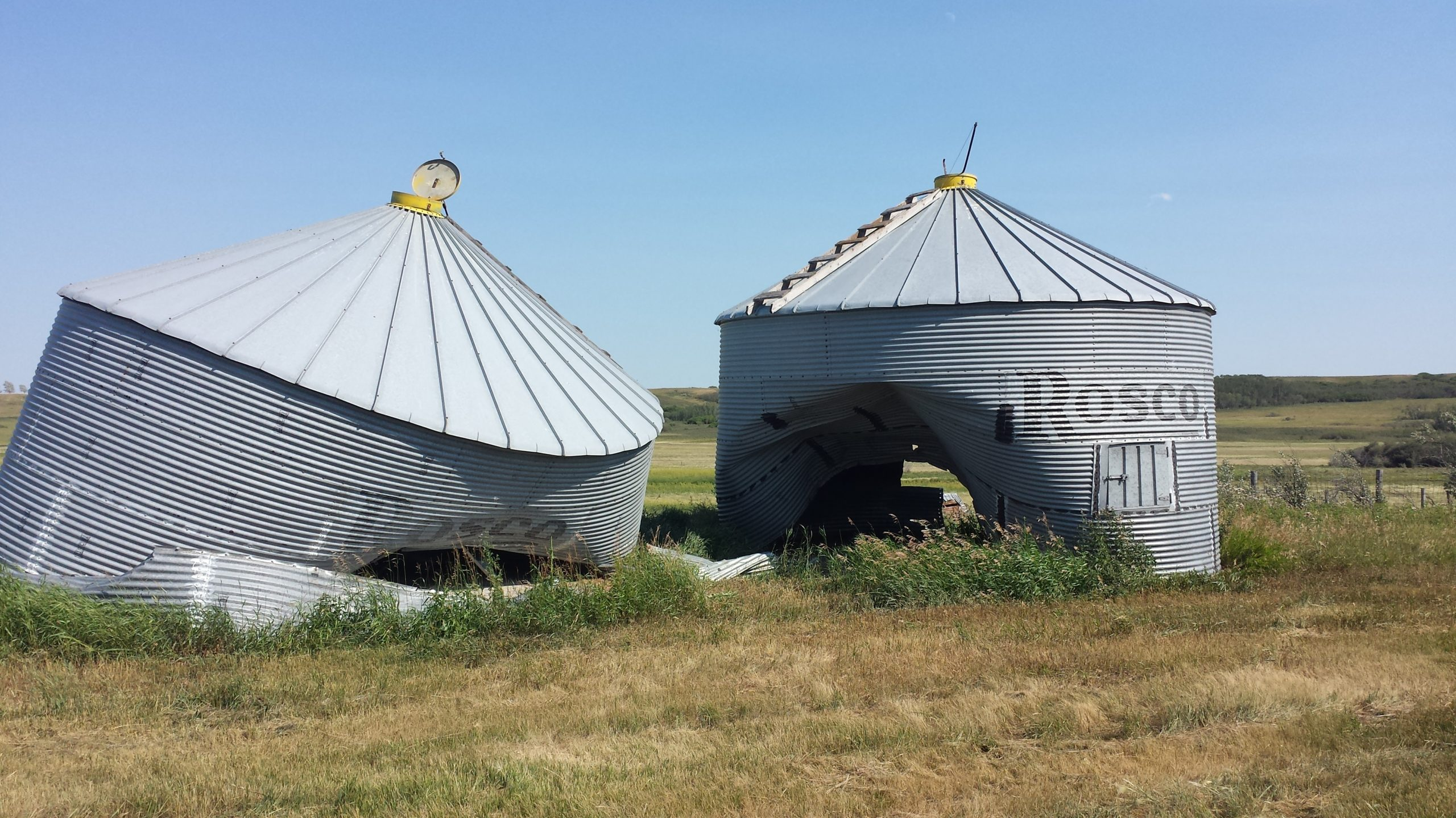 Grain Bin Home Saskatchewan Rcmp Search For Vandals Who Damaged Two Grain Bins