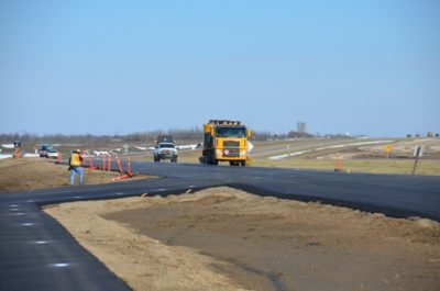 Twinning of Highway 5 continues near Humboldt, SK