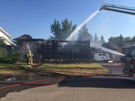 Home in Pilot Butte destroyed by Saturday afternoon fire