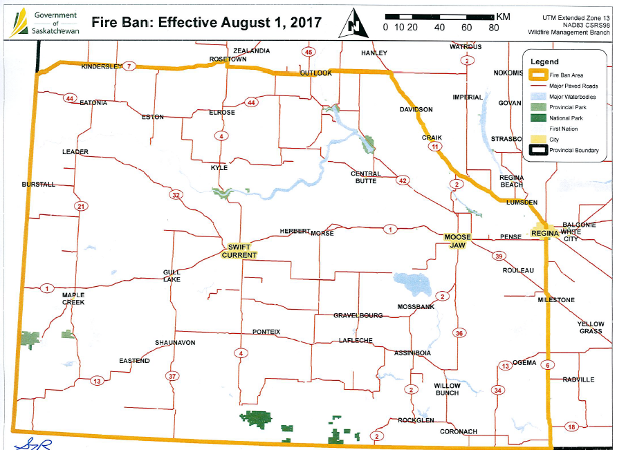 Fire bans now in place in southwest Saskatchewan | 620 CKRM The ...