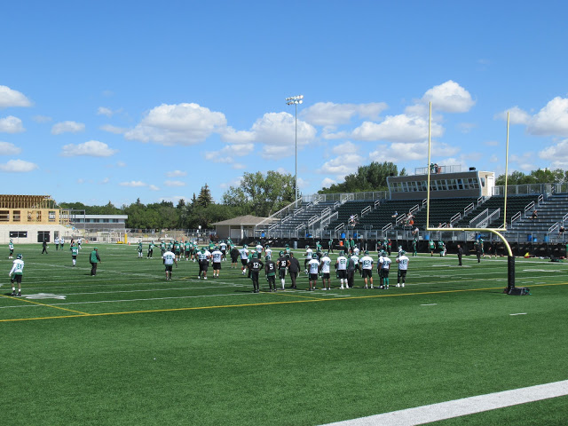 Riders get back to work at Leibel Field