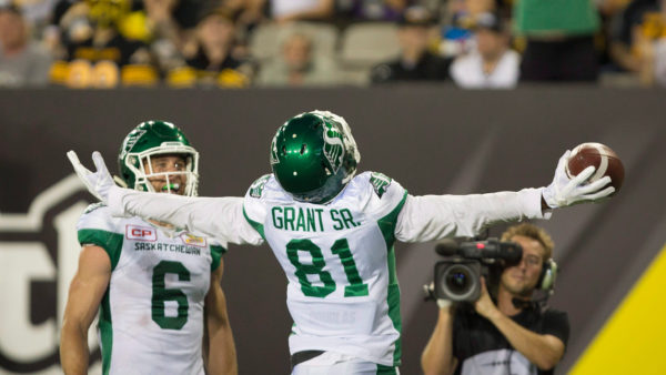 Riders hang on for win in Hamilton