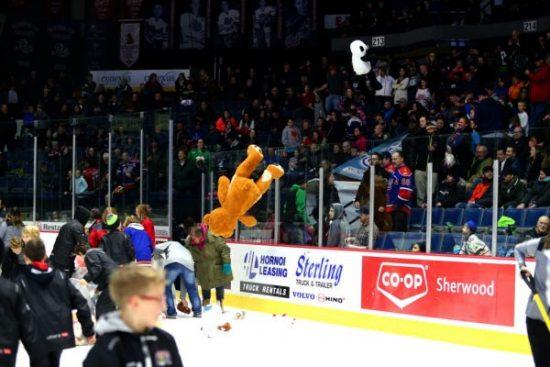 """""""Teddy Bear Toss"""" night at Brandt Centre as Regina Pats return home"""