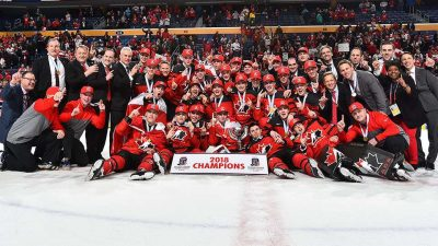 Canada reclaims world junior crown on Steenbergen's surprise victor