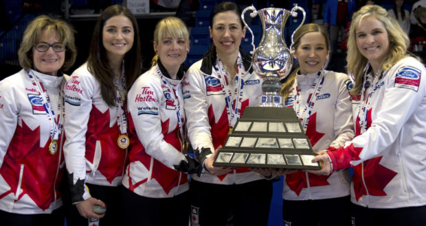 Minus Jill Officer, Canada clinches top spot at World Women's Curling Championships